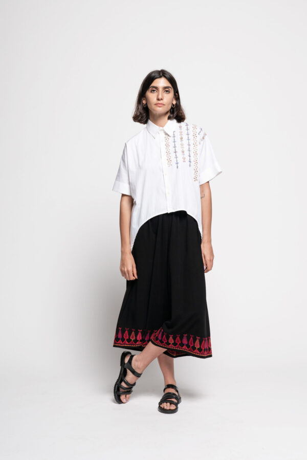 Inaash-imgcl-Cropped Shirt with Wide Pant 1