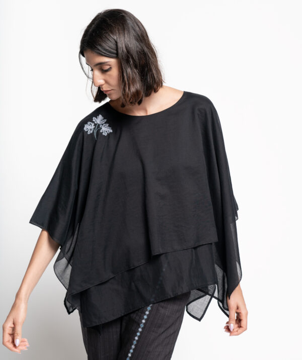 inaash-imgcl-Double Flare Top Black